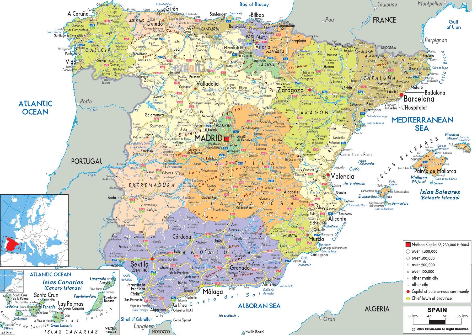 mapa espanha norte Mapa detalhado do norte da Espanha   Norte de Espanha mapa de  mapa espanha norte