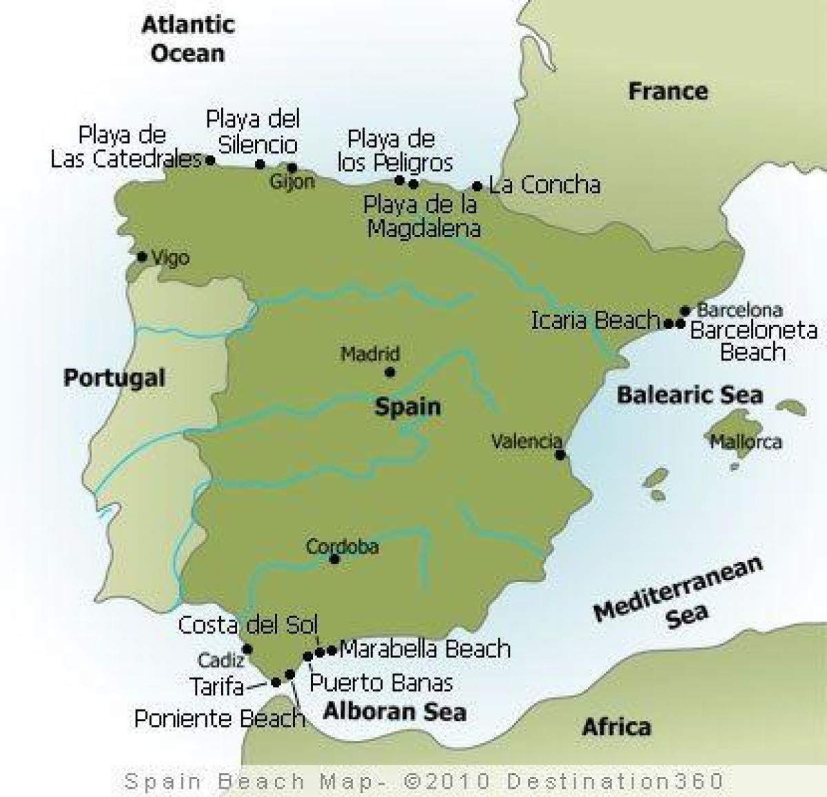huelva espanha mapa Espanha praia do mapa de resorts de Praia na Espanha mapa (Sul da  huelva espanha mapa